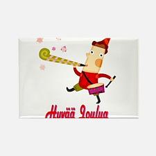 Hyvää Joulua Elf With A Horn Rectangle Magnet