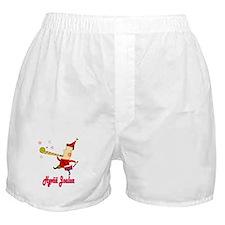 Hyvää Joulua Elf With A Horn Boxer Shorts