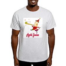 Hyvää Joulua Elf With A Horn Ash Grey T-Shirt