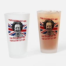 CUSTOM TEXT Thatcher UK Drinking Glass