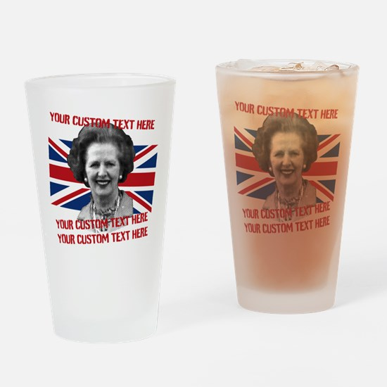 CUSTOM TEXT Thatcher UK Drinking Glass