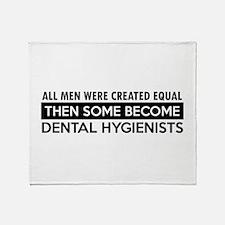 Dental hygienist Designs Throw Blanket