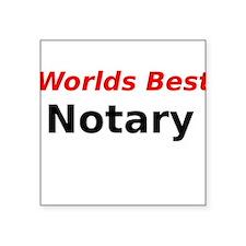 Worlds Best Notary Sticker