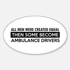 Ambulance Driver Designs Sticker (Oval)