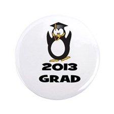 "2013 Grad Penguin 3.5"" Button"