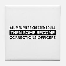 Correction Officers Designs Tile Coaster
