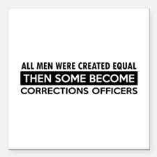 """Correction Officers Designs Square Car Magnet 3"""" x"""