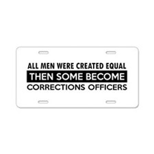 Correction Officers Designs Aluminum License Plate