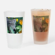 baby bunny horizontal design Drinking Glass