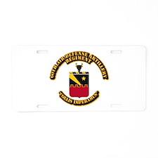 COA - 60th ADA Regiment Aluminum License Plate