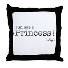 Grunge Typewriter Run Like a Princess Throw Pillow