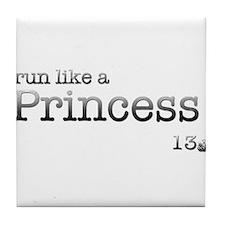 Grunge Typewriter Run Like a Princess Tile Coaster