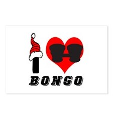 I Love Bongo Postcards (Package of 8)