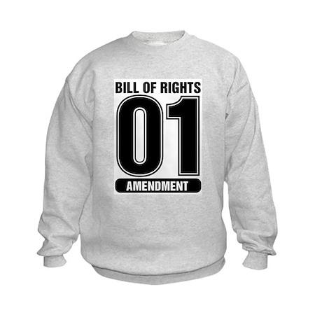 01 Jersey Number B&W Kids Sweatshirt