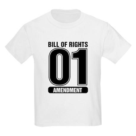 01 Jersey Number B&W Kids T-Shirt