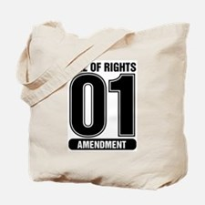 01 Jersey Number B&W Tote Bag