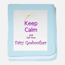 Keep Calm and Call your Fairy Godmother baby blank