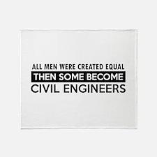 Civil Engineers Designs Throw Blanket