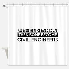 Civil Engineers Designs Shower Curtain