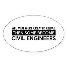 Civil Engineers Designs Decal