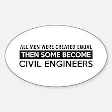 Civil Engineers Designs Decal