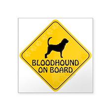 "Bloodhound On Board Square Sticker 3"" x 3"""