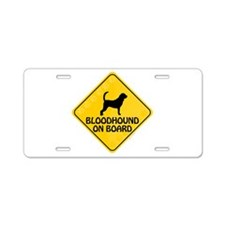 Bloodhound On Board Aluminum License Plate