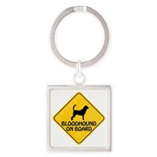 Bloodhound On Board Square Keychain