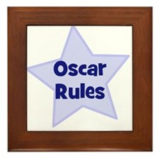 Oscar Rules Framed Tile