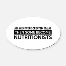 Nutritionists Designs Oval Car Magnet