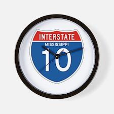 Interstate 10 - MS Wall Clock