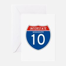 Interstate 10 - MS Greeting Cards (Pk of 10)