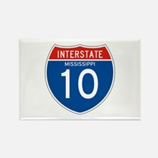 Interstate 10 - MS Rectangle Magnet