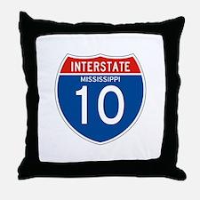 Interstate 10 - MS Throw Pillow