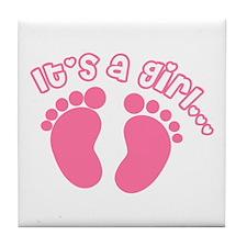 Its a Girl Tile Coaster