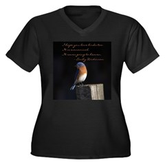 I hope you love birds too. Plus Size T-Shirt