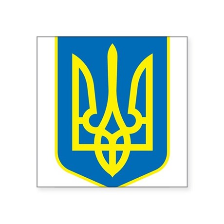 Ukraine Coat of Arms Rectangle Sticker