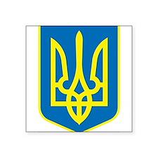 Ukraine Coat of Arms Rectangle Sticker