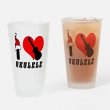 I Love Ukulele Drinking Glass