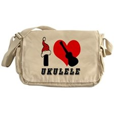 I Love Ukulele Messenger Bag