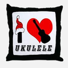 I Love Ukulele Throw Pillow