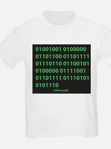 I LOVE YOU binary code T-Shirt