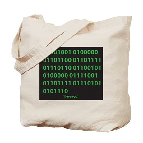 I LOVE YOU binary code Tote Bag