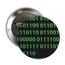 "I LOVE YOU binary code 2.25"" Button"