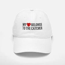 My Heart Belongs To The Catcher Baseball Baseball Cap