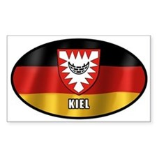 Kiel coat of arms (white letters) Decal