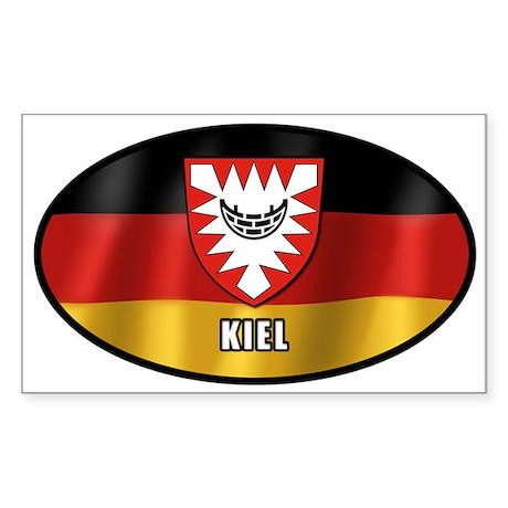 Kiel coat of arms (white letters) Sticker