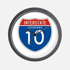 Interstate 10 - LA Wall Clock