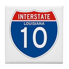 Interstate 10 - LA Tile Coaster