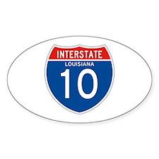 Interstate 10 - LA Oval Decal
